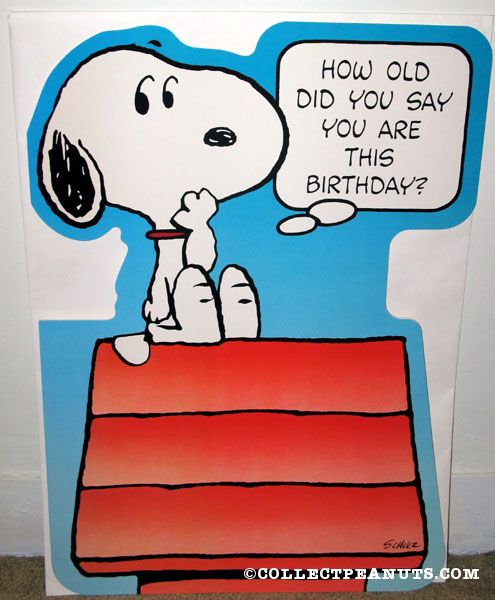 Snoopy Birthday Cards gangcraftnet – Oversized Birthday Cards