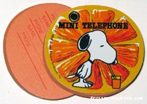 Snoopy drinking orange juice Orange Mini Telephone Book