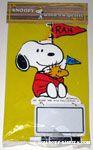 Snoopy and Woodstock in Stadium blanket holding 'Rah' signs Memo Board
