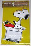 Snoopy at typewriter Wood n' Wipe Offs Memo Board