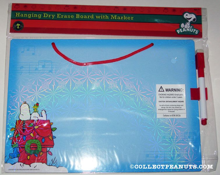 Snoopy Woodstock On Christmas Decorated Doghouse Dry Erase Board