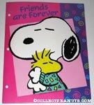 Snoopy hugging Woodstock 'Friends are Forever' Portfolio Folder