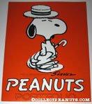 Snoopy dancing with hat & cane Portfolio Folder