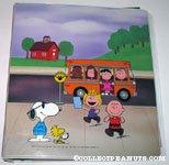 Peanuts Gang getting off bus Binder