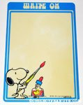 Snoopy & Woodstock with Paint Brush and Ink Dry Erase Board