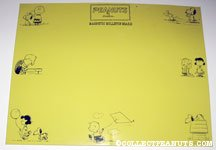 Peanuts Magnetic Bulletin Board