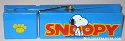 Snoopy sitting in front of name Over-sized Paperclip