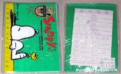 Snoopy & Woodstock laying on beach Identification and Important Number Card