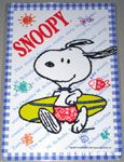Snoopy Surfer Multiplication Table Card