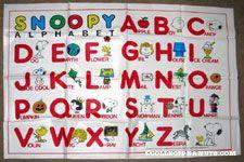 Snoopy & the Peanuts Gang Alphabet Vinyl Cloth