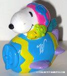 Snoopy flying ace & Woodstock in egg plane PVC Figurine