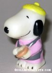 Snoopy holding cookie Figure