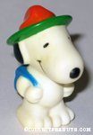 Snoopy wearing hat & backpack Figure