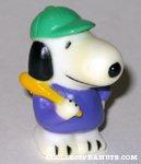 Snoopy holding baseball bat Figure