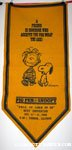 Snoopy & Linus 'A friend is someone who accepts you for what you are' Pennant