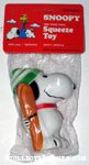 Snoopy holding Skiis Squeaky Toy