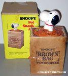Snoopy Brown Bag Pet Goodies