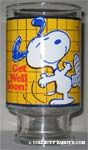 Snoopy with Leg in Cast Vase