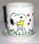 Snoopy Hugging Woodstock Planter