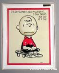 Charlie Brown 3-D greeting card