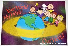 Peanuts Gang in Space Your World, My World, Our World Poster