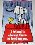 Snoopy & Woodstock in the rain 'A friend is always there to lend an ear' Poster
