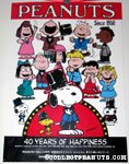 Peanuts 40th Anniversary Japanese Poster