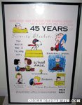 Peanuts 45th Anniversary Cartoon Art Museum Poster