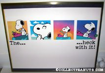 Snoopy writer 'The Heck with it' Poster