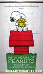 Peanuts 50th Anniversary Cartoon Art Museum Poster