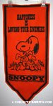 Snoopy and Bunnies 'Happiness is loving your Enemies' Pennant