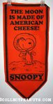 Astronaut Snoopy 'The Moon is made of American Cheese' Pennant