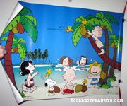 Peanuts Gang on Tropical Beach Poster