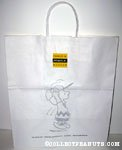 Charlie Brown jumping Schulz Museum Shopping Bag