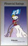 Snoopy on top of mountain 'Financial Ratings' Metlife Brochure