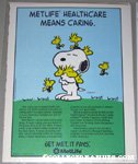 Snoopy hugging Woodstocks Metlife Magazine Ad