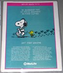 Snoopy walking with Woodstock Metlife Magazine Ad