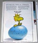 Woodstock sitting on egg Metlife Magazine Ad