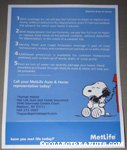 Snoopy on phone Metlife Fact Sheet