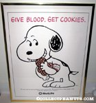 Snoopy eating cookies Metlife Poster