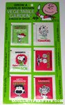 Charlie Brown Vegetable Garden Seed Packets