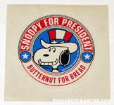 Snoopy for President Sticker
