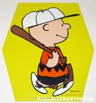 Baseball Charlie Brown cardboard hanging sign