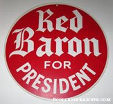 Red Baron for President Hanging Display