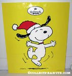 Snoopy Dancing 'Joy' Hallmark Bag