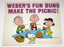 Peanuts Gang having a Picnic Sign