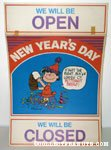 Lucy New Year's Day Store Sign
