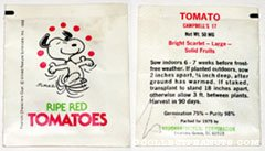 Snoopy Tomato Seed Packet