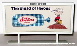 Charlie Brown 'Bread of Heros' Weber's Bread Billboard Mockup