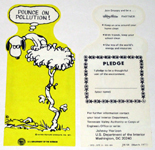 Snoopy Vulture 'Pounce on Pollution' Johnny Horizon Bookmark